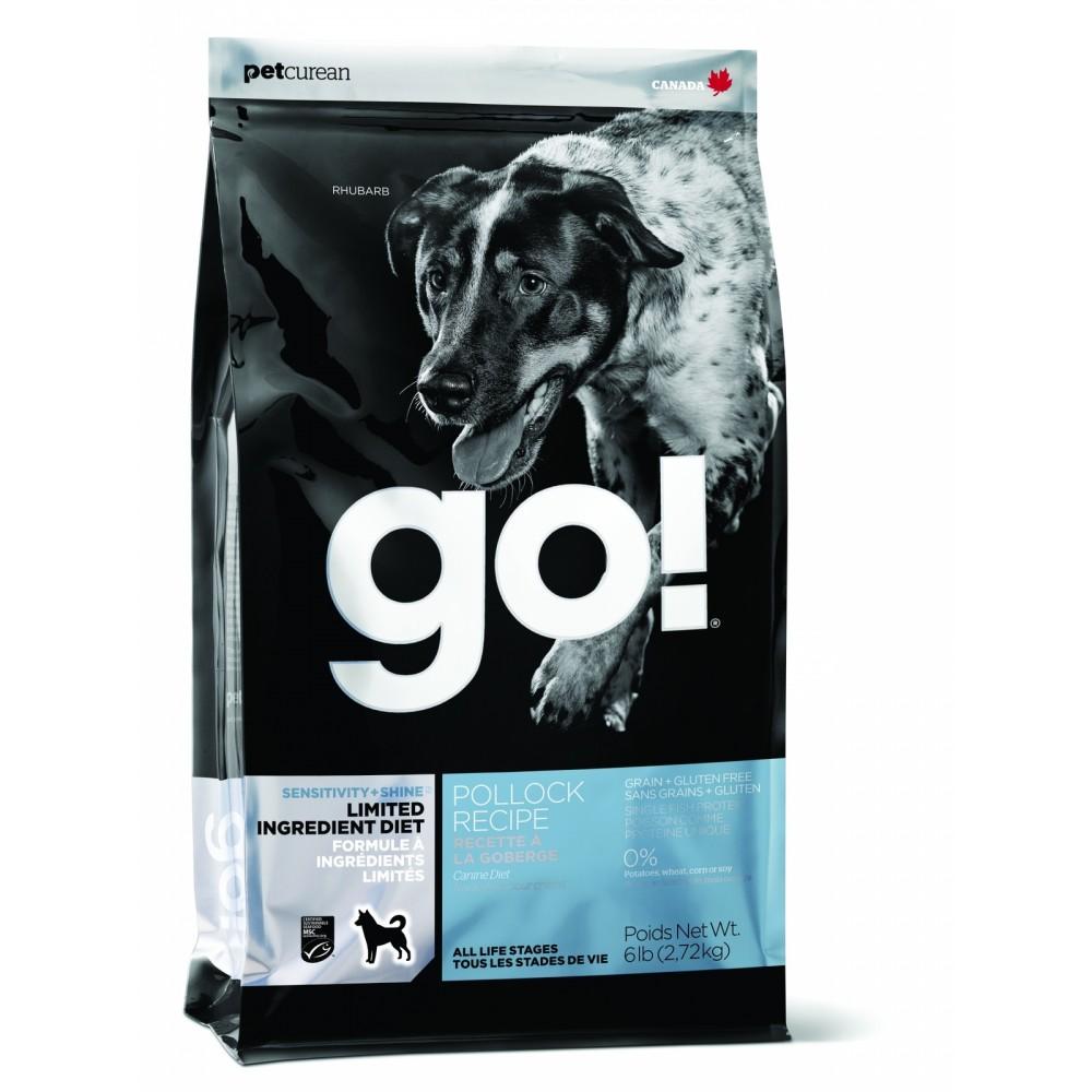 GO! Sensitivity + Shine LID Pollock Dog Recipe, Grain Free, Potato Free беззерновой для щенков и собак с минтаем