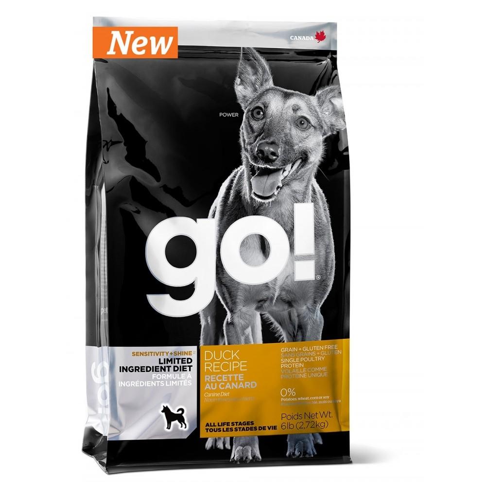 GO! Sensitivity + Shine Duck Dog Recipe Беззерновой для щенков и собак c чувств. пищеварением