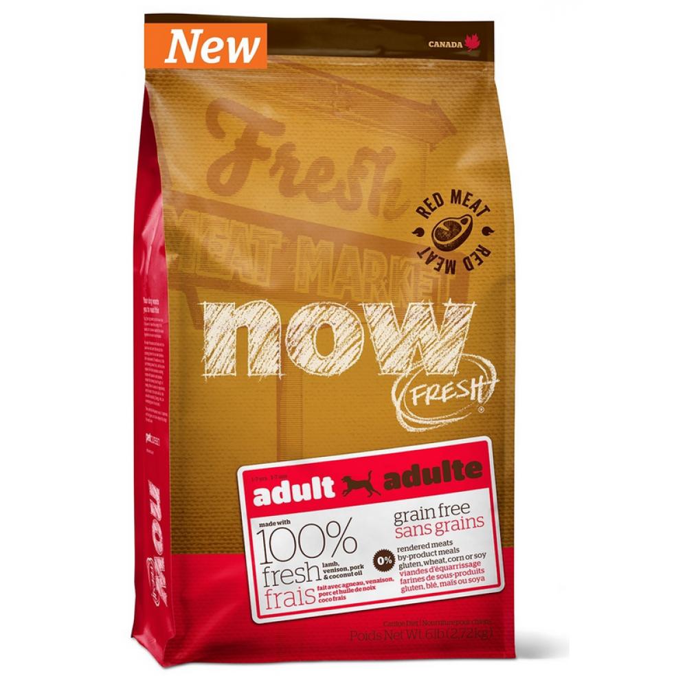 NOW Беззерновой для взрослых собак со свежим мясом ягненка и оленины