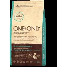 ONE&ONLY Turkey & Rice All Breeds для взрослых собак средних пород
