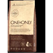 ONE&ONLY Rabbit & Rice Adult All Breeds для взрослых собак всех пород (кролик)