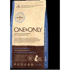 ONE&ONLY White fish & Rice Adult All Breeds Ван энд Онли для взрослых собак всех пород (рыба)