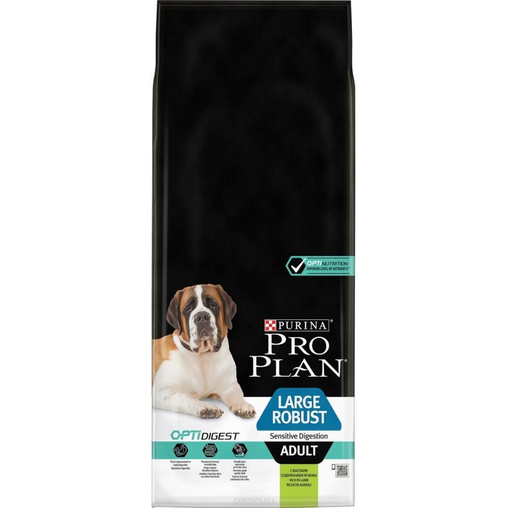 Purina Pro Plan Large Adult Robust Lamb для собак крупных пород мощного телосложения с чувствительным пищеварением с ягненком